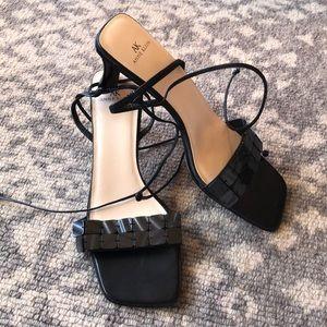 Anne Klein ankle tie sandals size 8.5